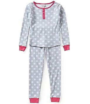 Sweet Heart Rose Big Girls 7-14 Polka Dot Pajama Set