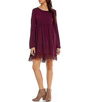 Roxy Lace-Hem Traveler Shift Dress