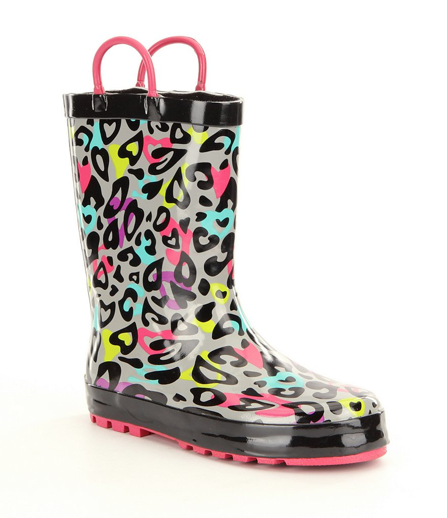 Western Chief Girl´s Groovy Leopard Rain Boots