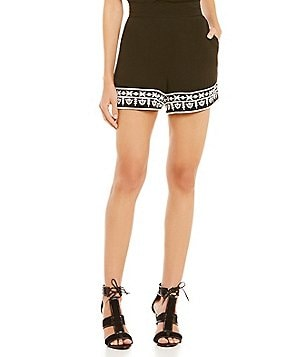Gianni Bini Darby Embroidered Shorts