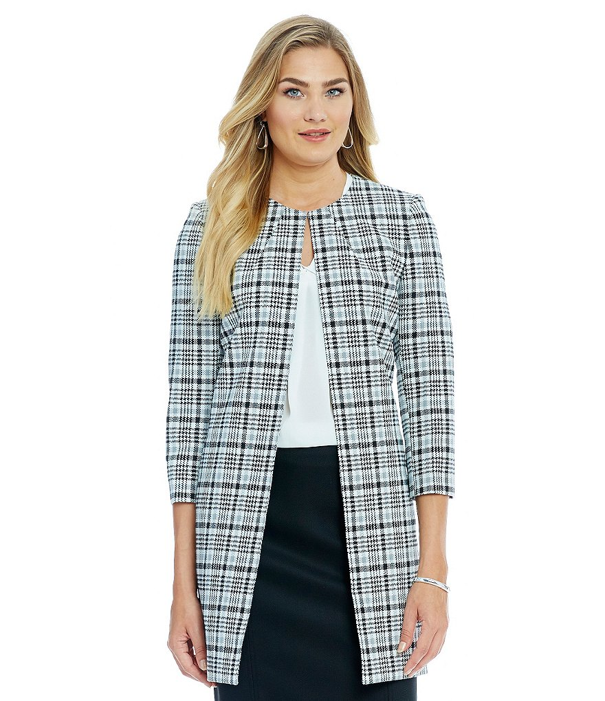 Alex Marie Romantic Semantics Xiomara Glen Plaid Topper Jacket