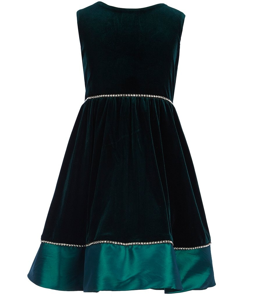Rare Editions Big Girls 7-16 Velvet Taffeta Dress