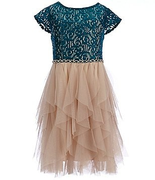 Tween Diva Big Girls 7-16 Lace Mesh Dress