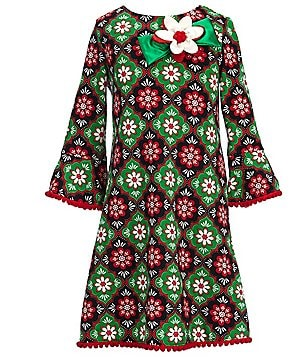 Counting Daisies Big Girls 7-16 Pom-Trimmed Floral A-Line Dress