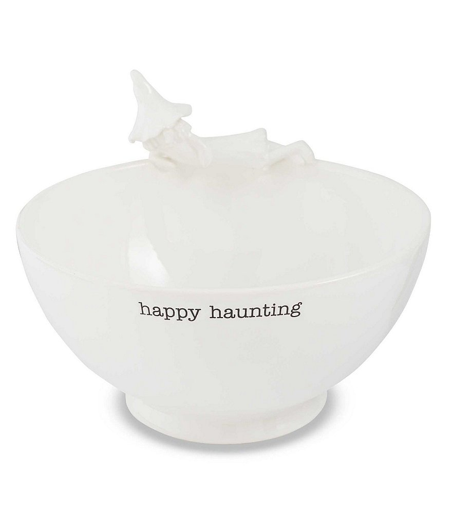 Mud Pie Halloween Happy Haunting Witch Serving Bowl