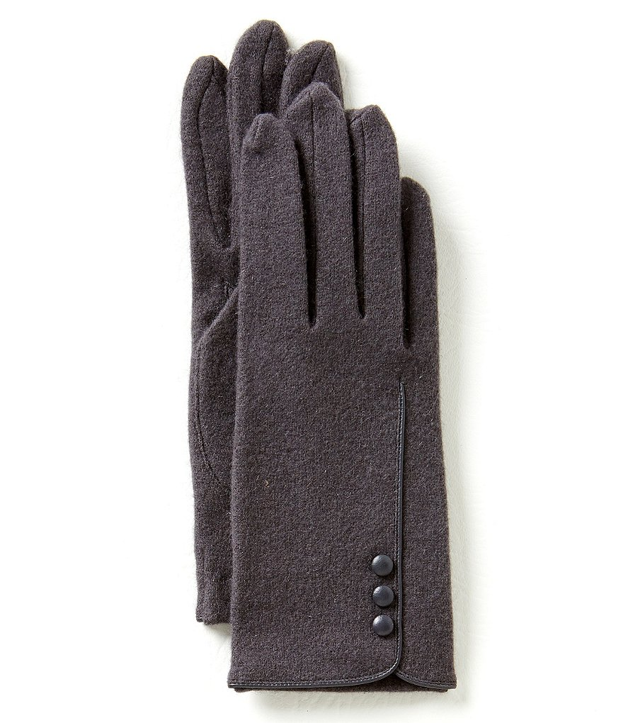 Dillard´s Three-Button Wool-Blend Gloves