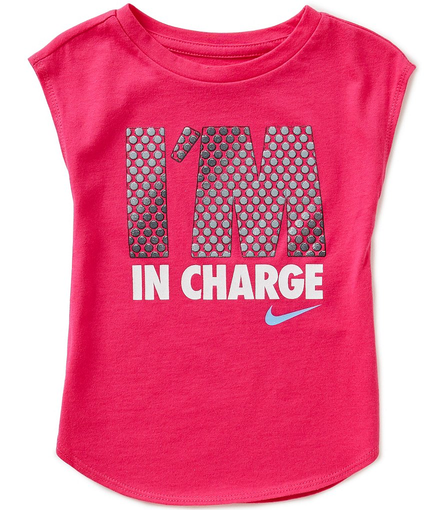 Nike Little Girls 2T-6X I´m in Charge Modern Tee