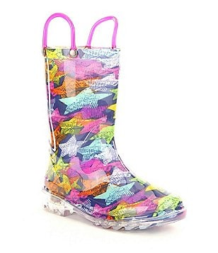 Western Chief Girl´s Scribble Stars Lighted Rain Boots