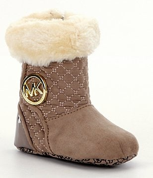 MICHAEL Michael Kors Girl´s Faux Fur Baby Kels Crib Shoes