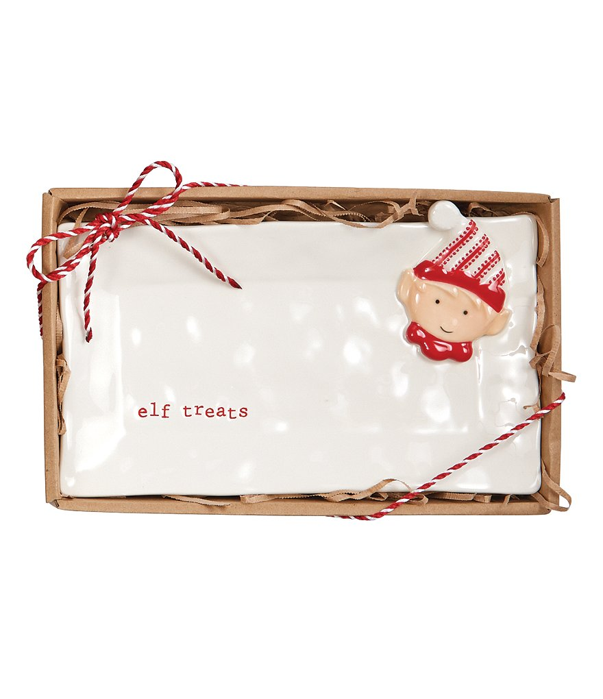 Mud Pie Holiday Elf Treats Plate
