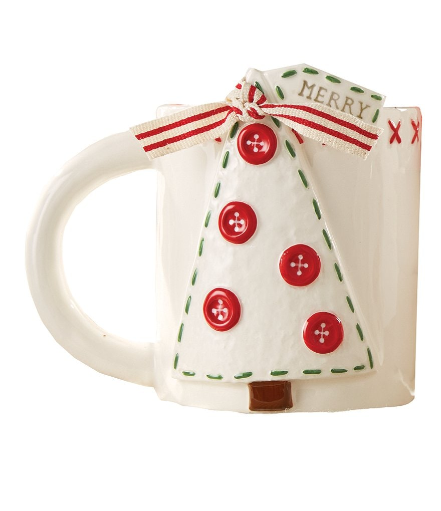 Mud Pie Holiday Deck the Hall Tree Mug
