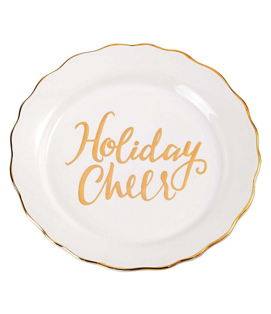 Mud Pie Holiday Cheer Scalloped Plate
