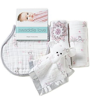 Aden + Anais Baby Girls For the Birds 5-Piece Gift Set