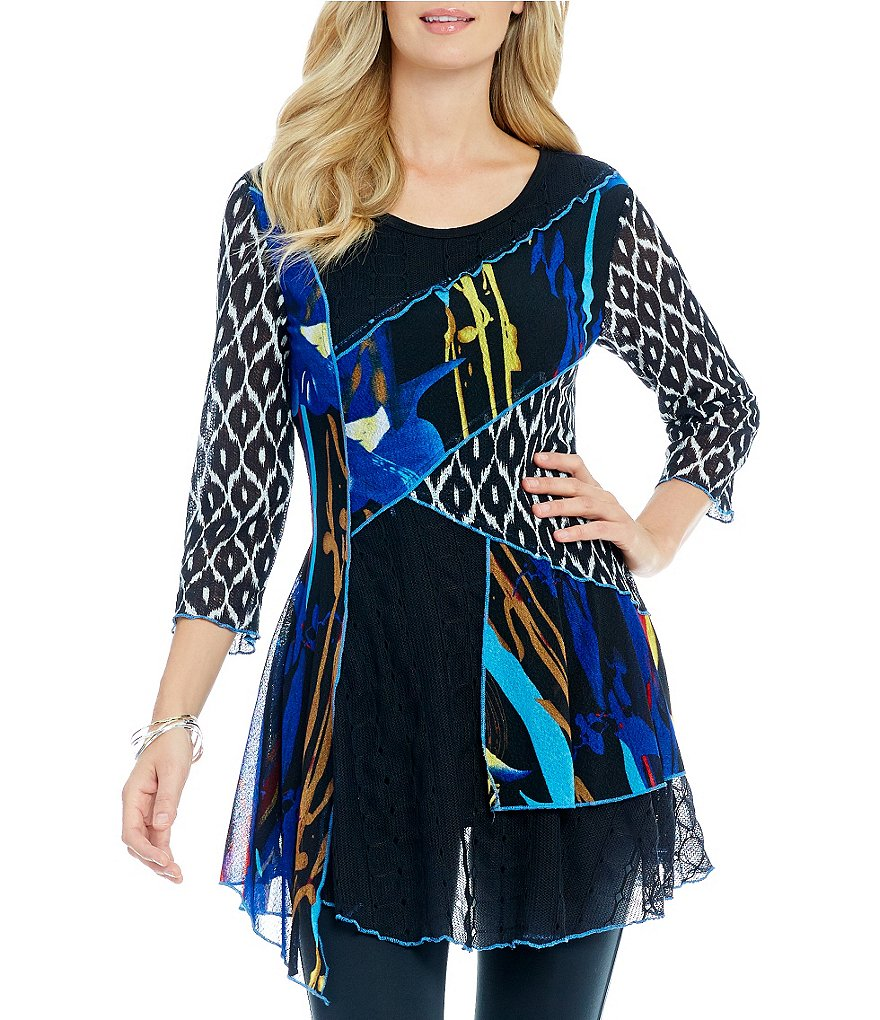 Paris Hues Mix Media Tunic
