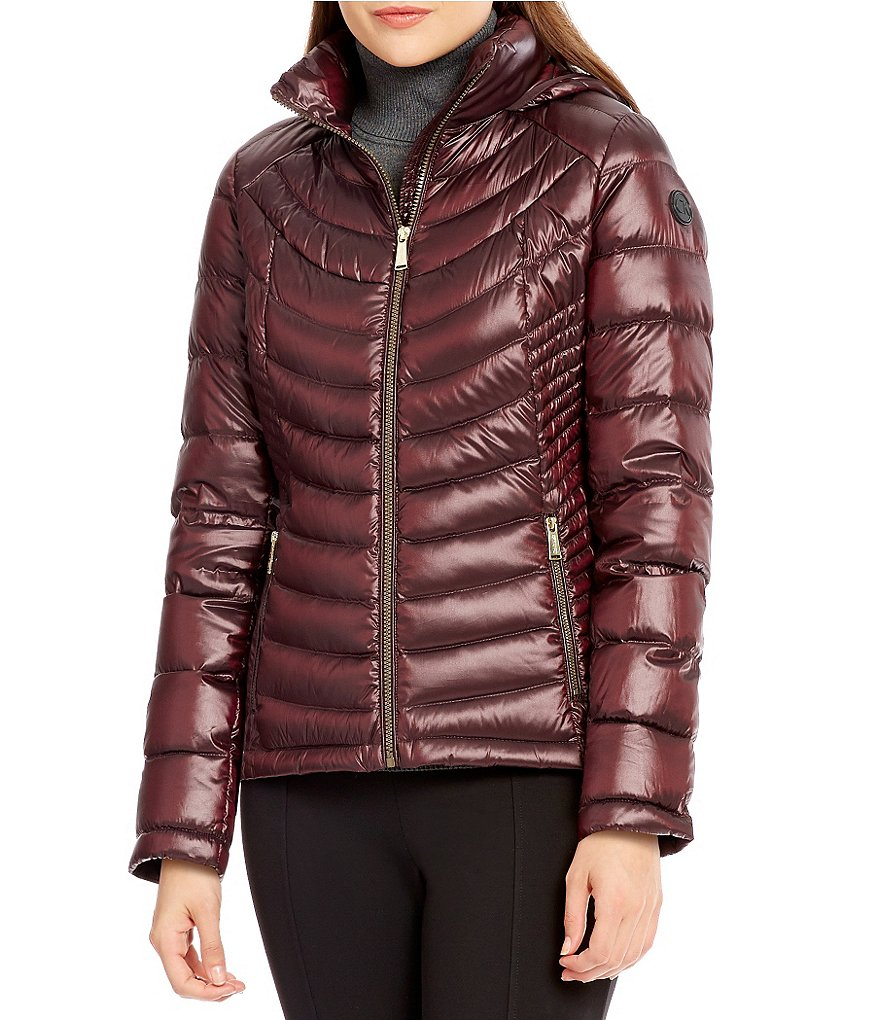 Calvin Klein Short Light Weight Down Packable Fitted Puffer Coat