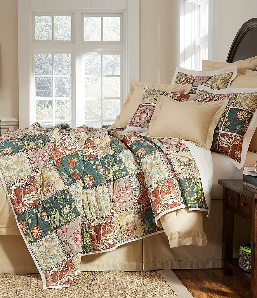 Villa by Noble Excellence Sommerset Floral Patchwork Cotton Quilt Mini Set