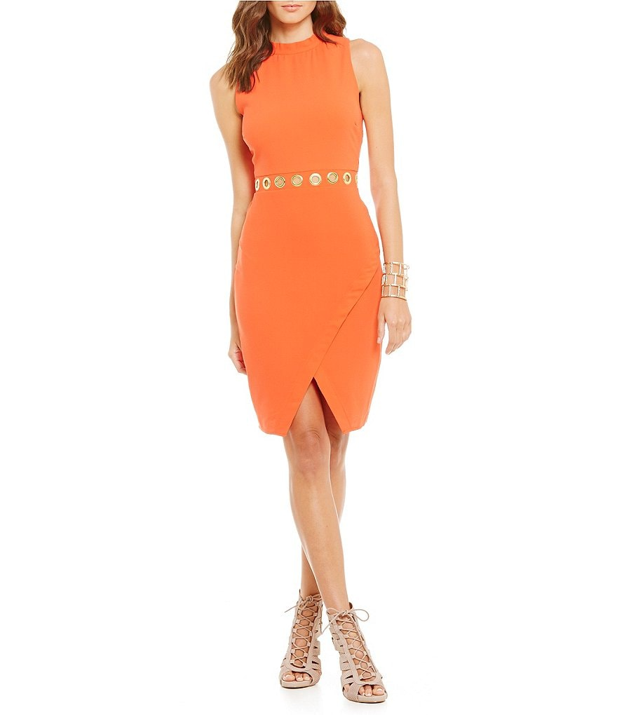 GB Bodycon Wrap Skirt Sheath Dress