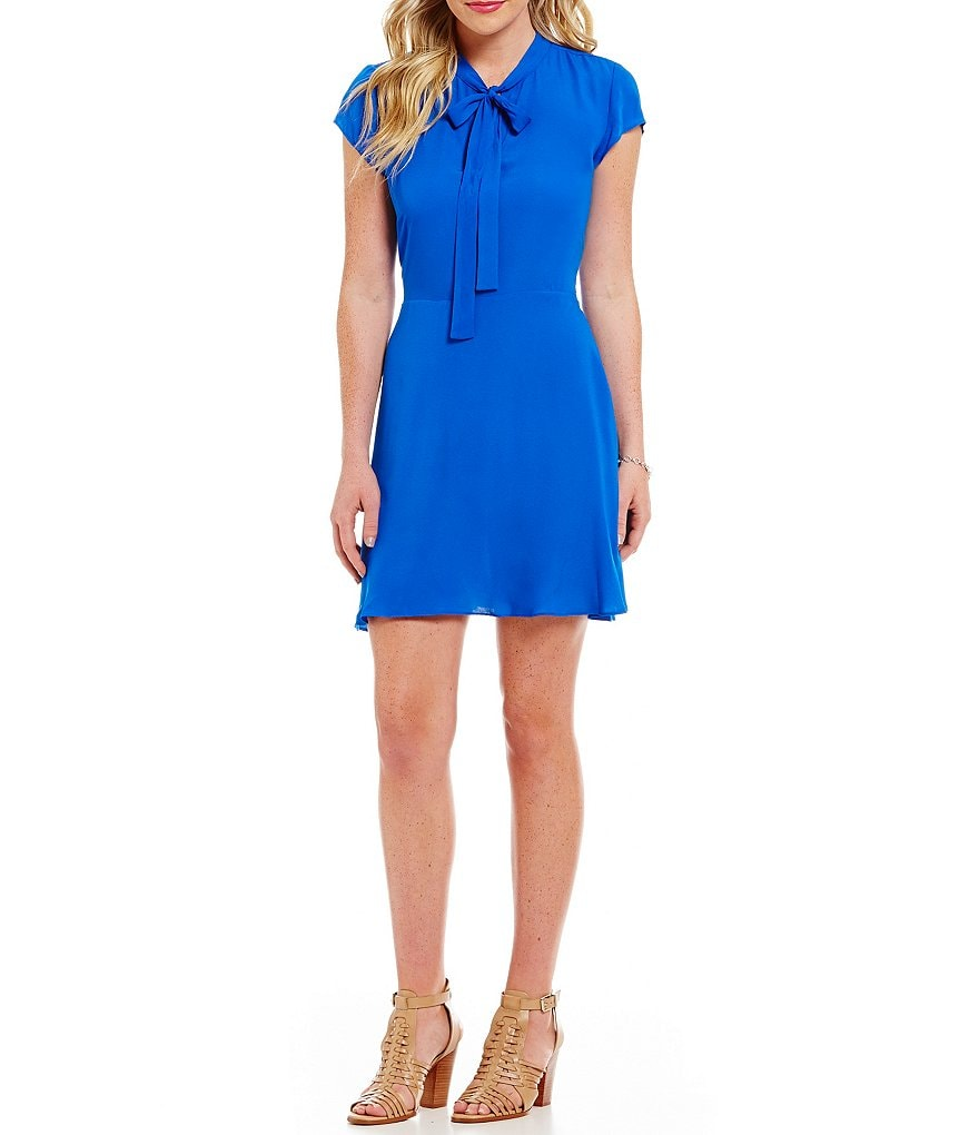 GB Tie Front A-line Dress