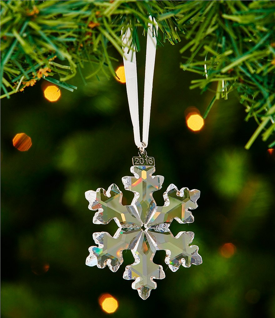 Swarovski 2016 Annual Edition Crystal Snowflake Ornament
