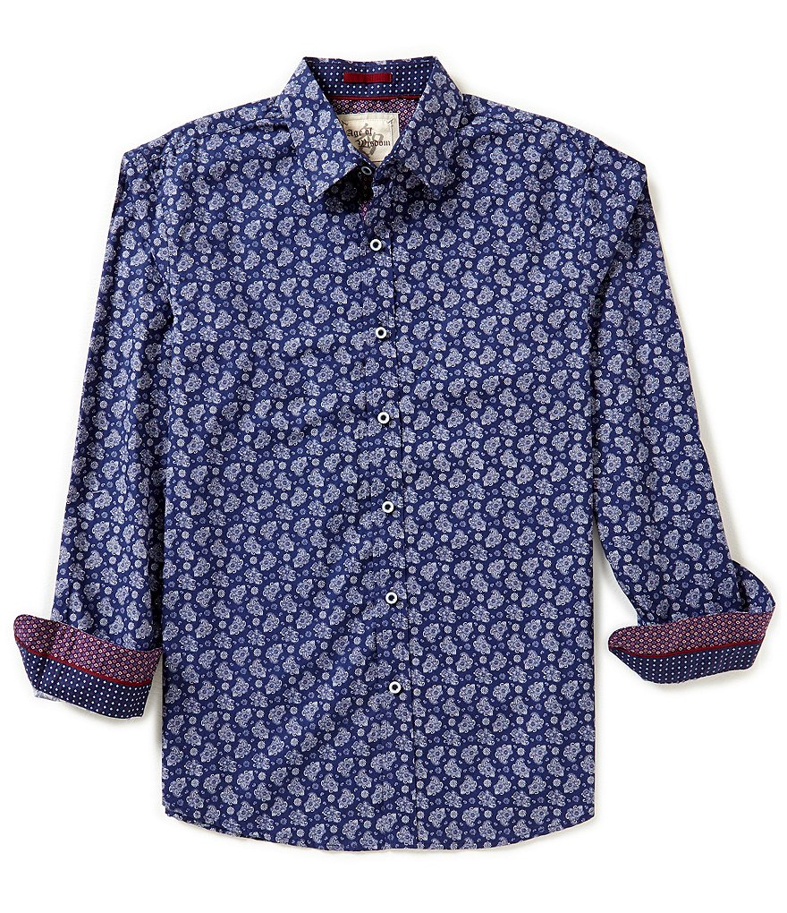 Age Of Wisdom Long-Sleeve Floral Print Woven Shirt