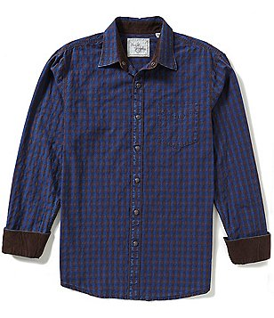 Age Of Wisdom Long-Sleeve Check Jacquard Woven Shirt