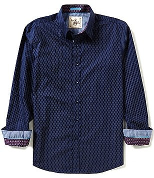 Age of Wisdom Long-Sleeve Dot Printed Woven Shirt
