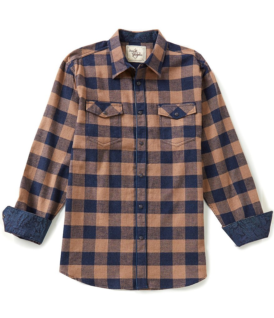 Age Of Wisdom Long-Sleeve Check Woven Shirt