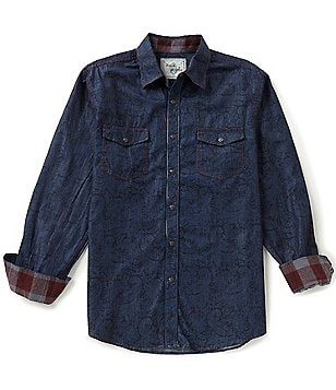 Age of Wisdom Long-Sleeve Paisley Print Woven Shirt