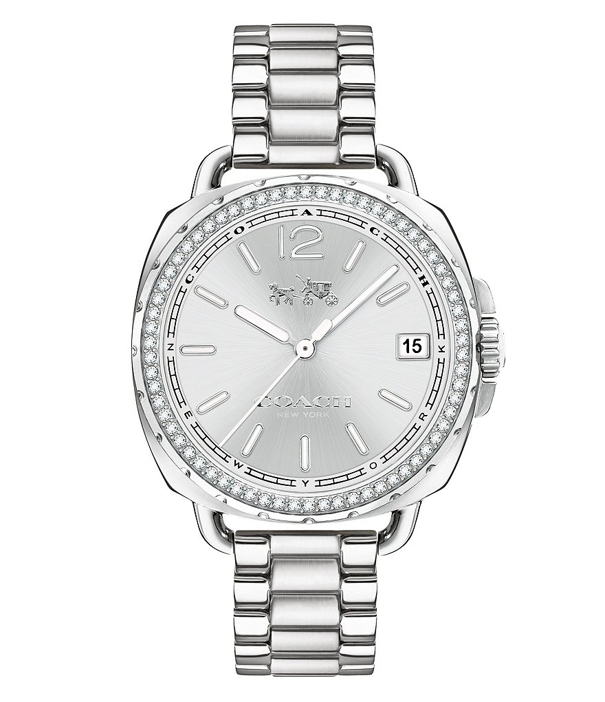COACH TATUM STAINLESS STEEL BRACELET WATCH