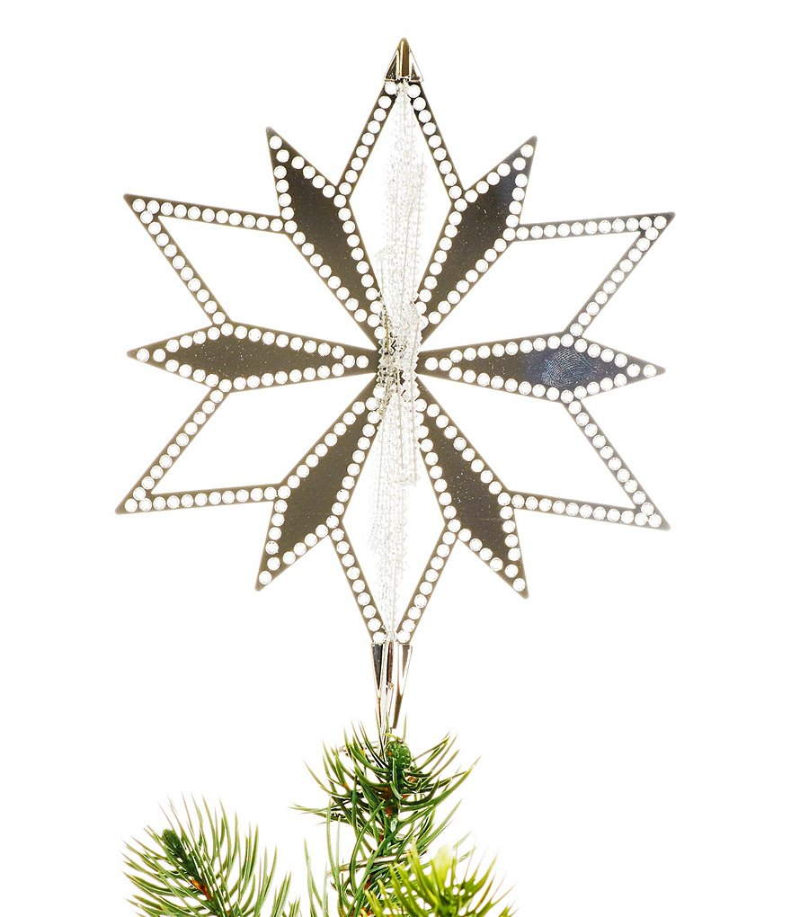 Swarovski Crystal-Metal Christmas Star Tree Topper