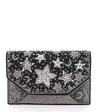 Mary Frances Wish Star-Beaded Clutch