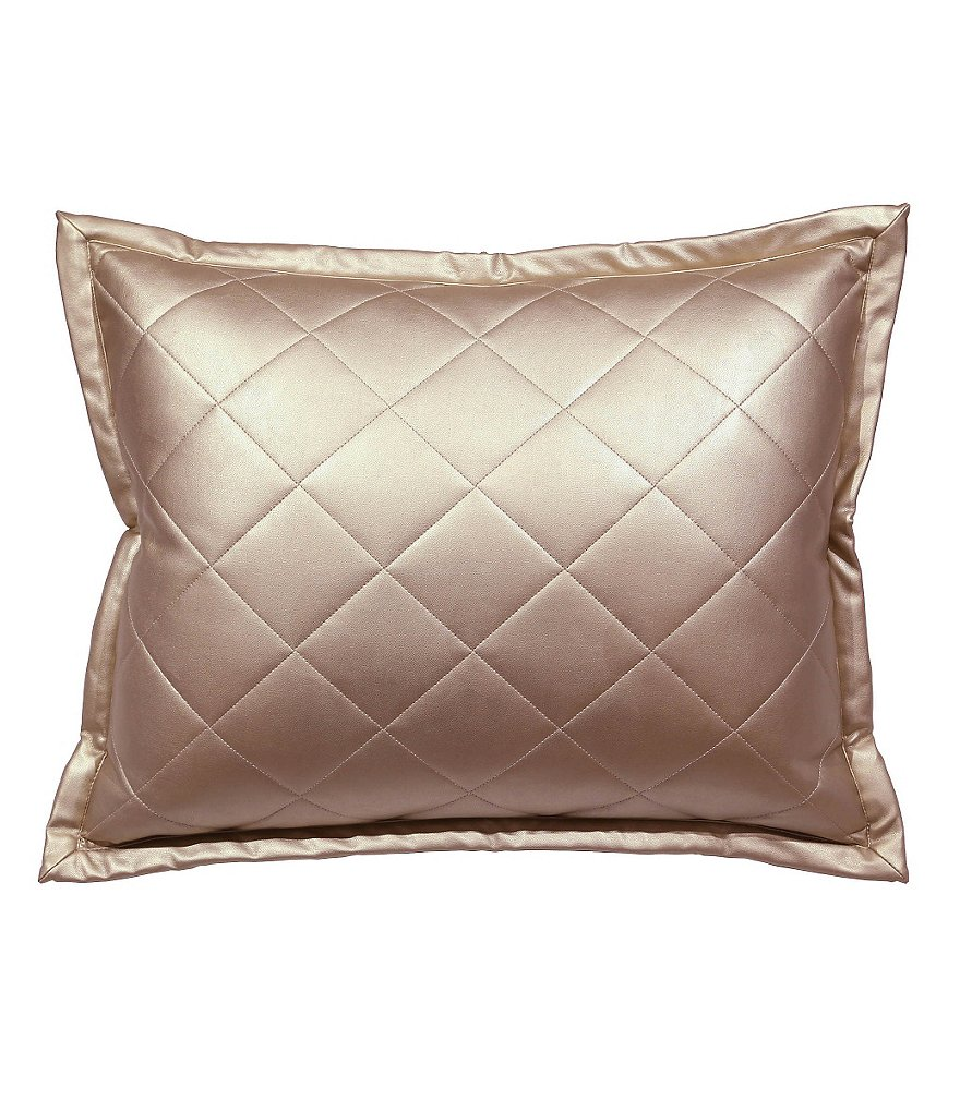 The Art of Home from Ann Gish Quilted Metallic Faux-Leather Oblong Feather Pillow