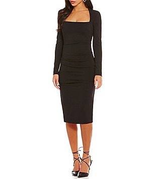 Nicole Miller Artelier Felicity Structured Heavy Jersey Square Neck Dress