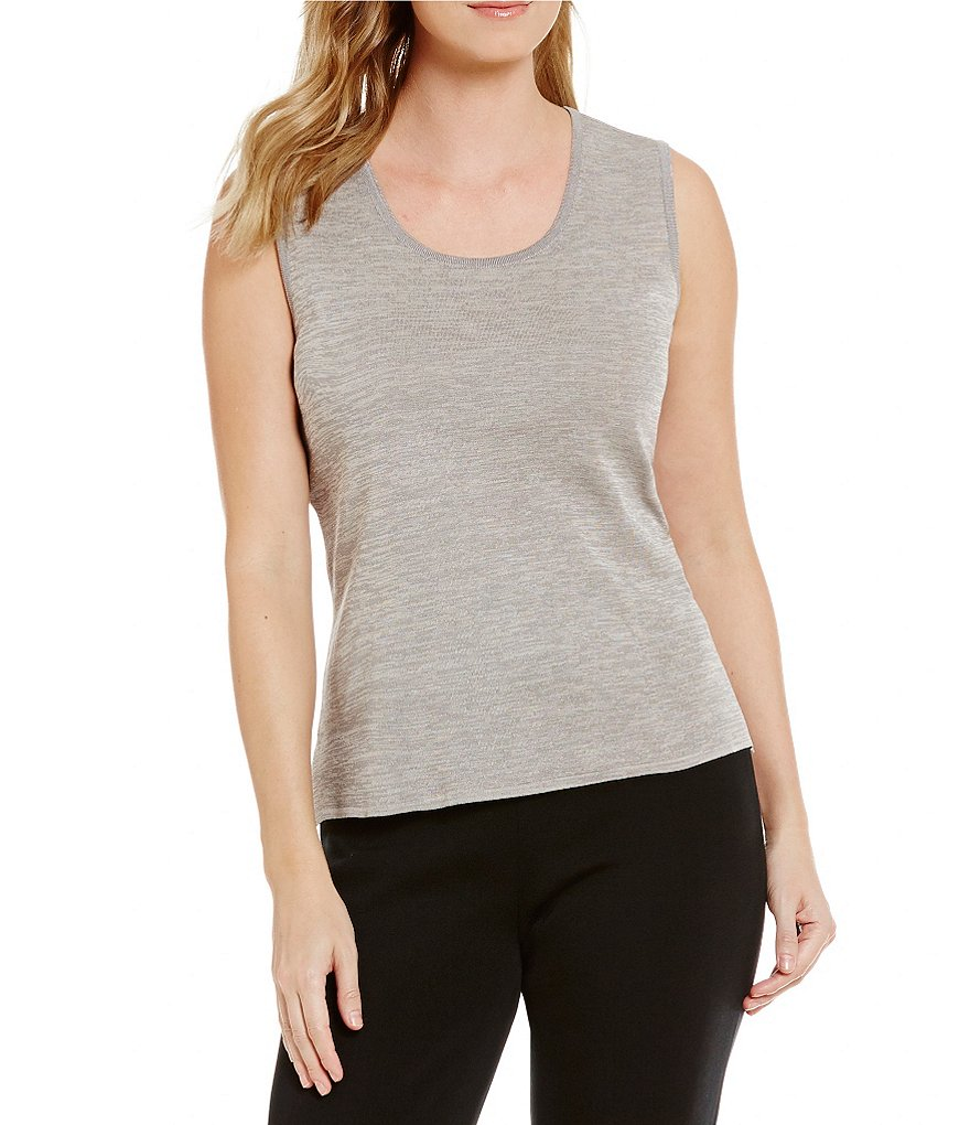 Ming Wang Scoop Neck Solid Tank