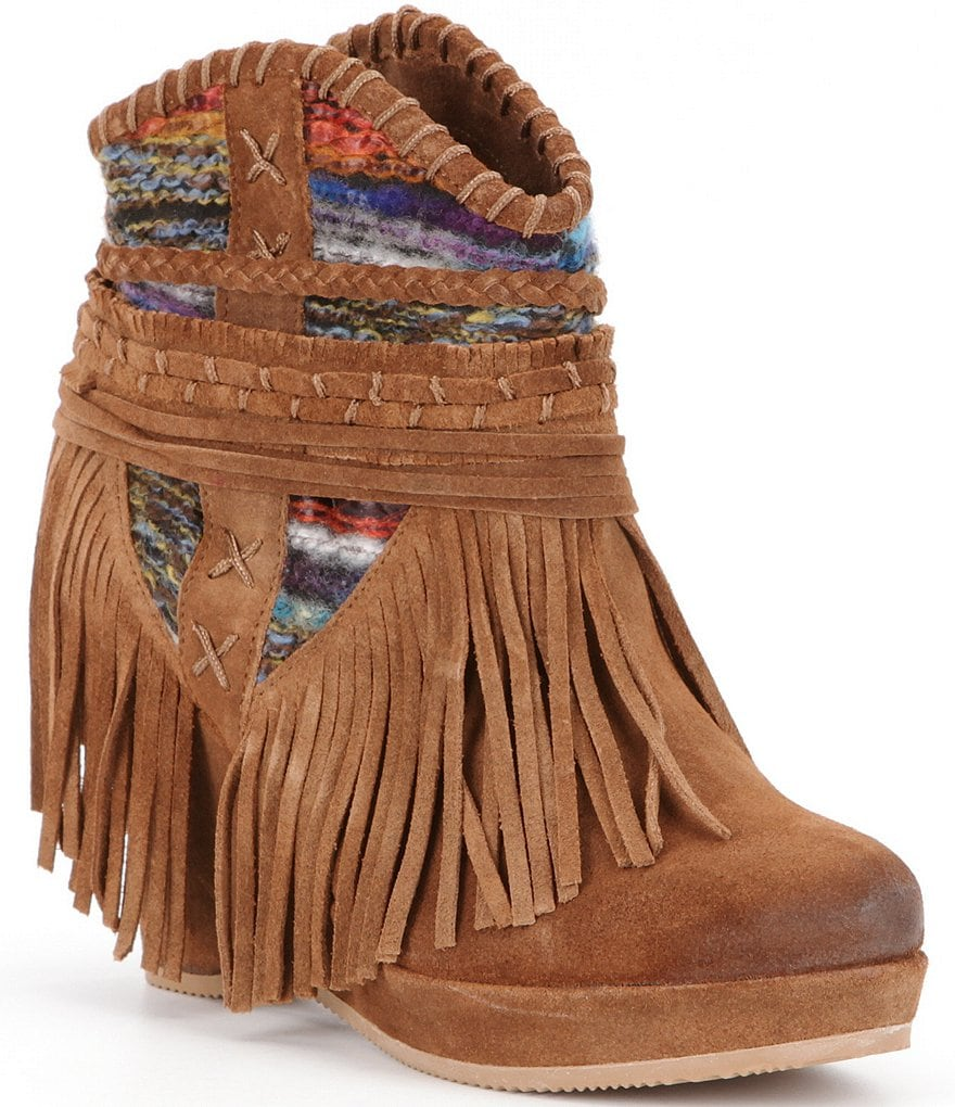 Naughty Monkey Canyon Dream Fringe Booties