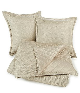 The Art of Home from Ann Gish Raffia Quilted Satin Coverlet Set