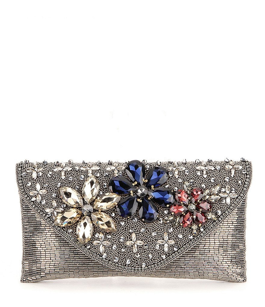 Mary Frances Rock Candy Floral Envelope Clutch