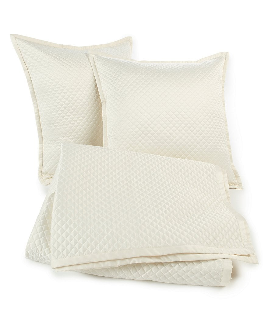 The Art of Home from Ann Gish Diamond Quilted Coverlet Set