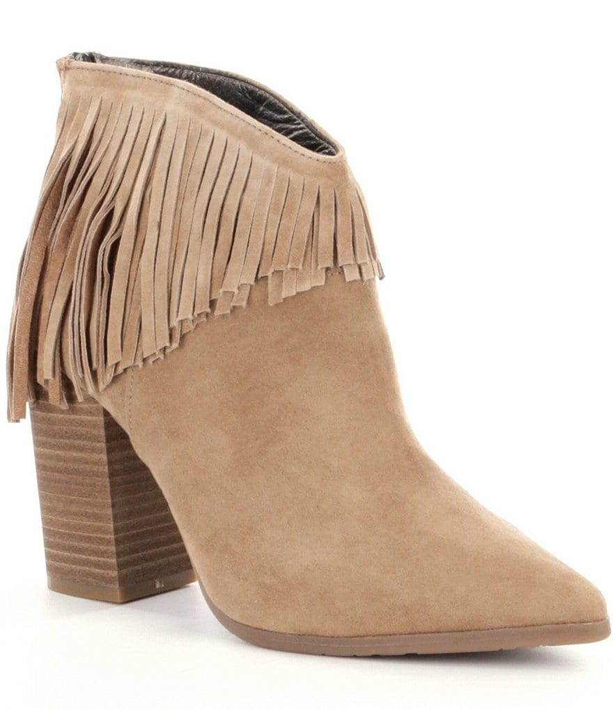 Kenneth Cole Reaction Pull Ashore Fringe Booties