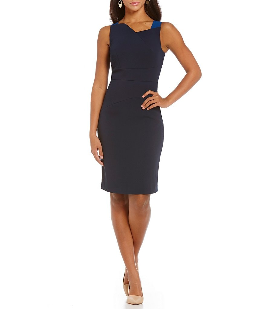 Adrianna Papell Two Tone Sheath Dress