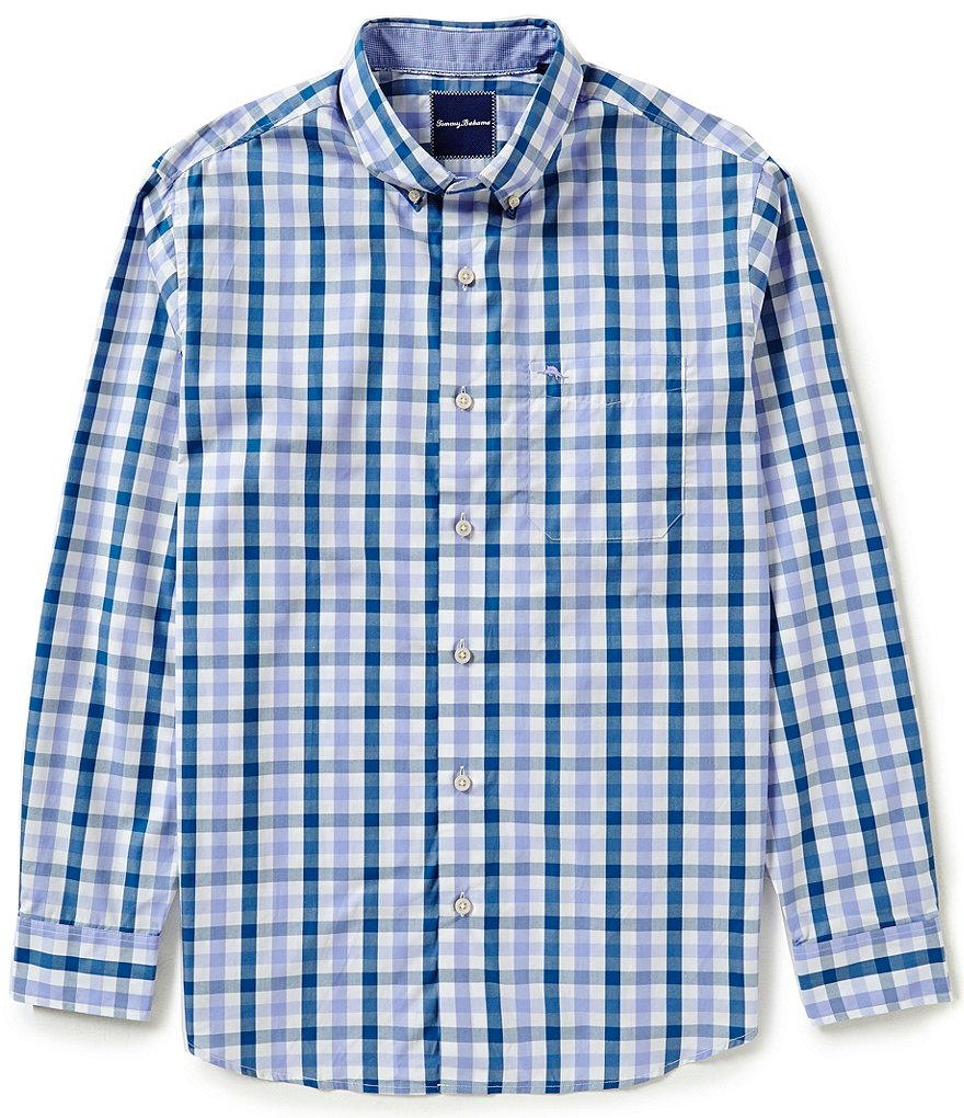 Tommy Bahama Big & Tall Long-Sleeve Tudo Check Woven Shirt