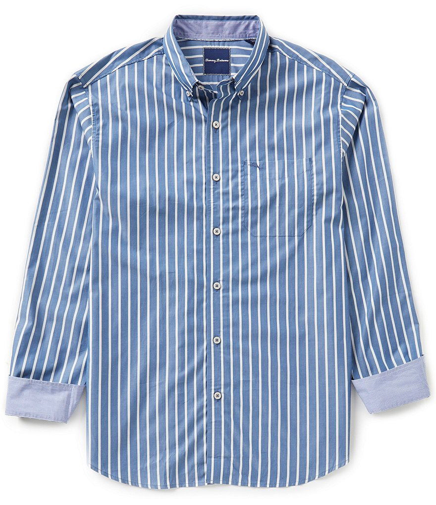Tommy Bahama Big & Tall Cabana Stripe Woven Shirt