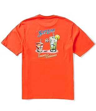 Tommy Bahama Big & Tall Sip Line Jersey Graphic Tee