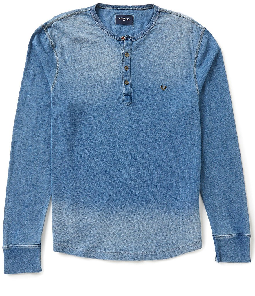 True Religion Long-Sleeve Henley Tee