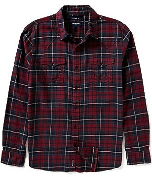 True Religion Plaid Western Shirt