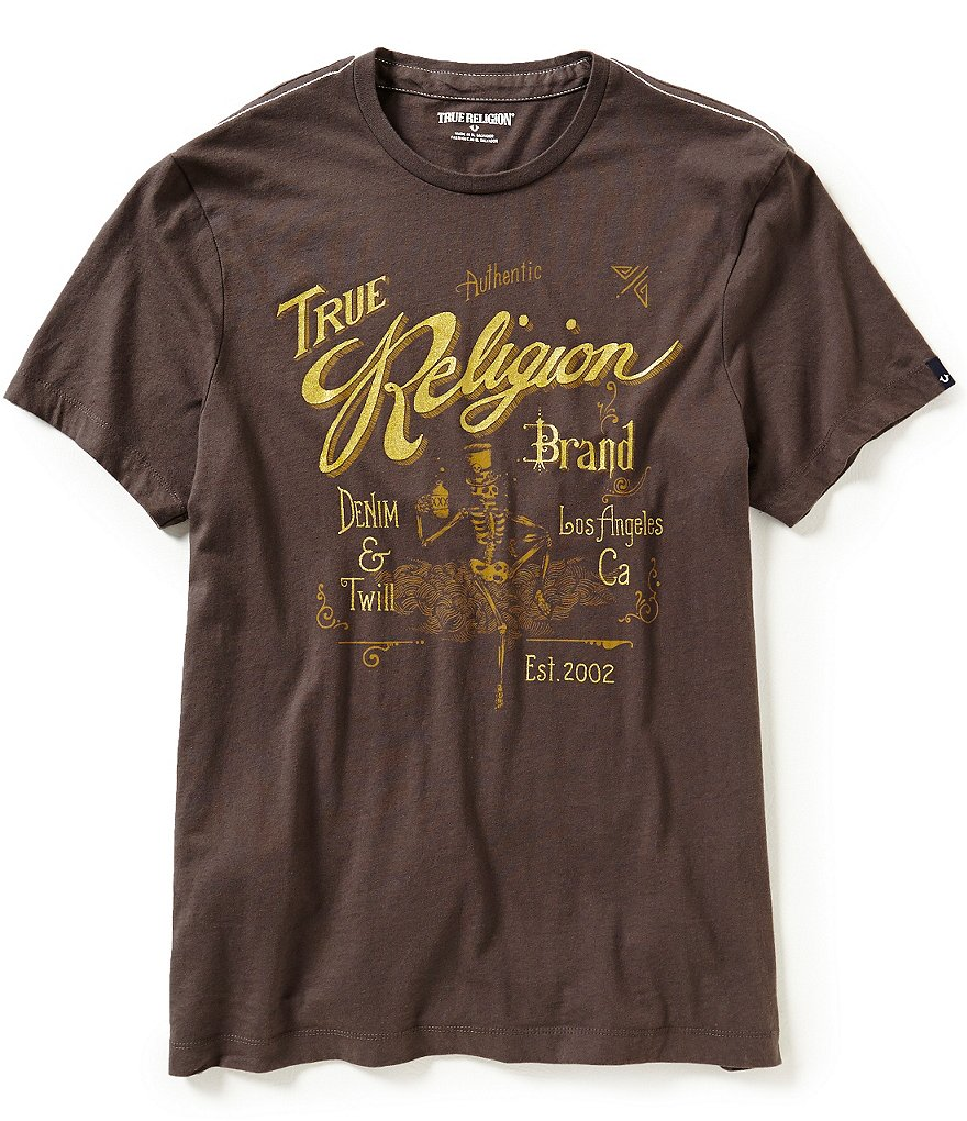 True Religion Metallic Skull Graphic Tee