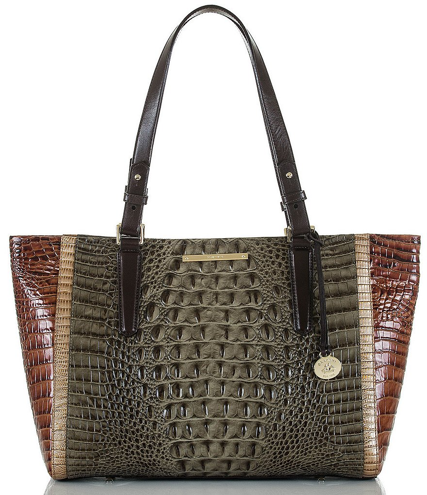 Brahmin Nottingham Collection Color Block Medium Arno Tote