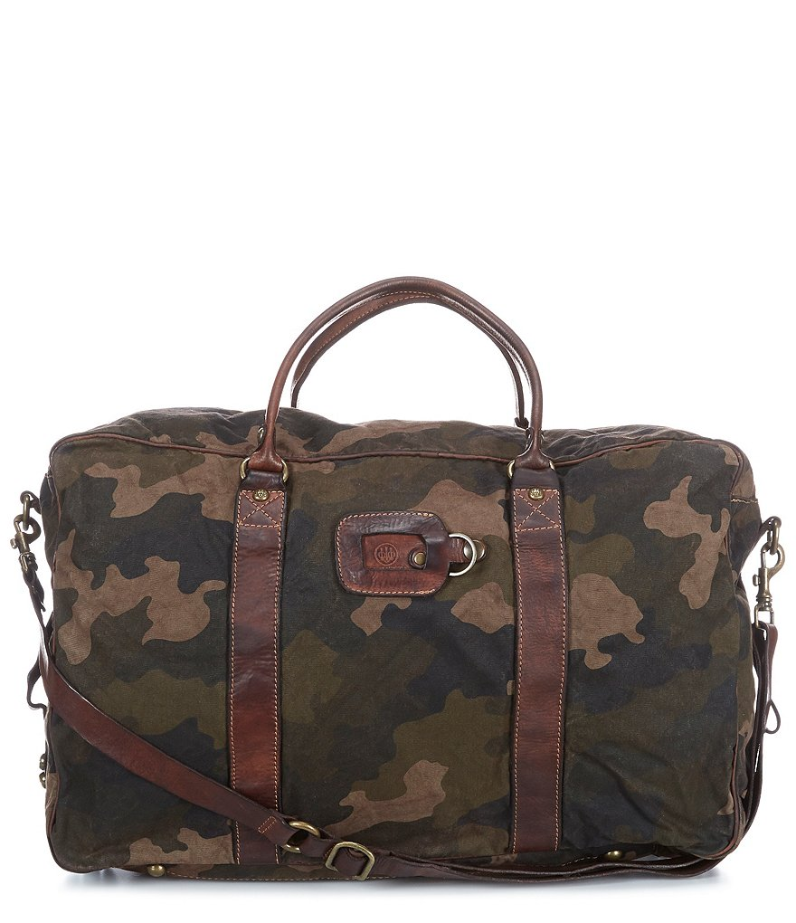 Beretta Washed Canvas & Leather Camo Backpack