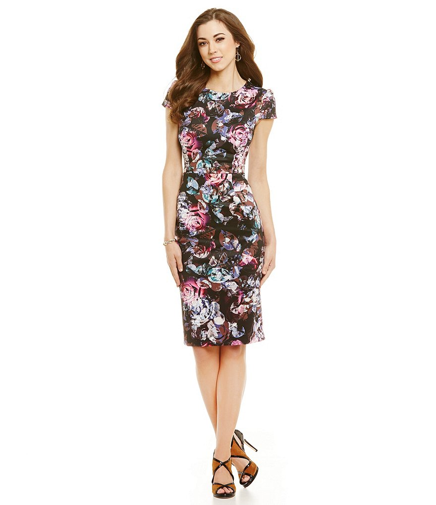 Antonio Melani Izzy Printed Scuba Sheath Dress