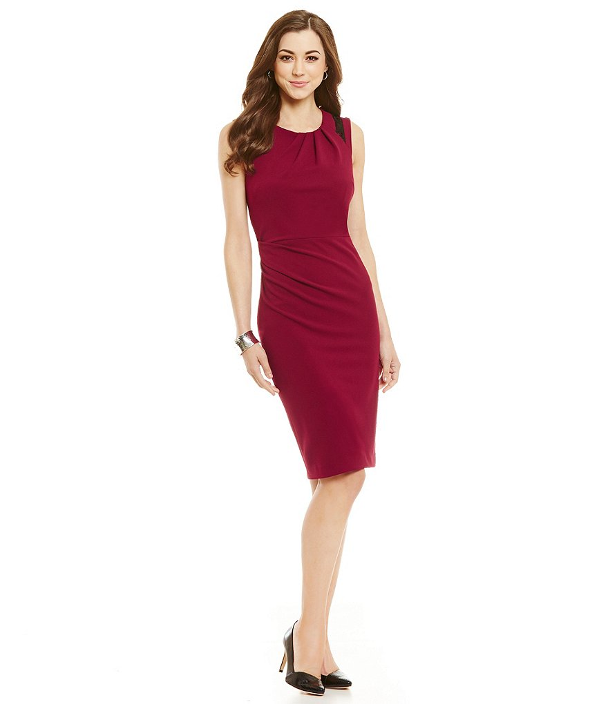 Antonio Melani Addison Stretch Crepe Sheath Dress